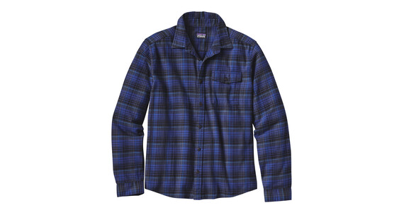 Patagonia Fjord L/S Flannel Shirt Men Navigate: Navy Blue